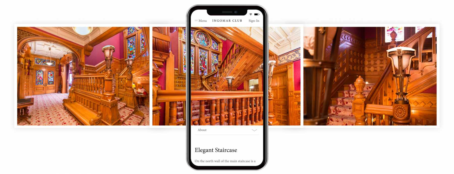 Image showcasing the Mobile-Friendly Responsive Carson Mansion website